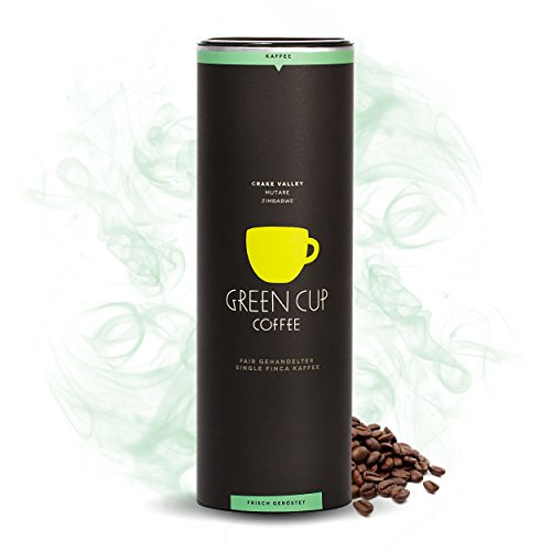 Green Cup Coffee Crake Valley - Bio Bohnen Kaffee aus Zimbabwe - fair gehandelte Kaffeebohnen in Premium Qualität für Genießer in der praktischen Dose - Haselnussnote - 454g ganze Bohne