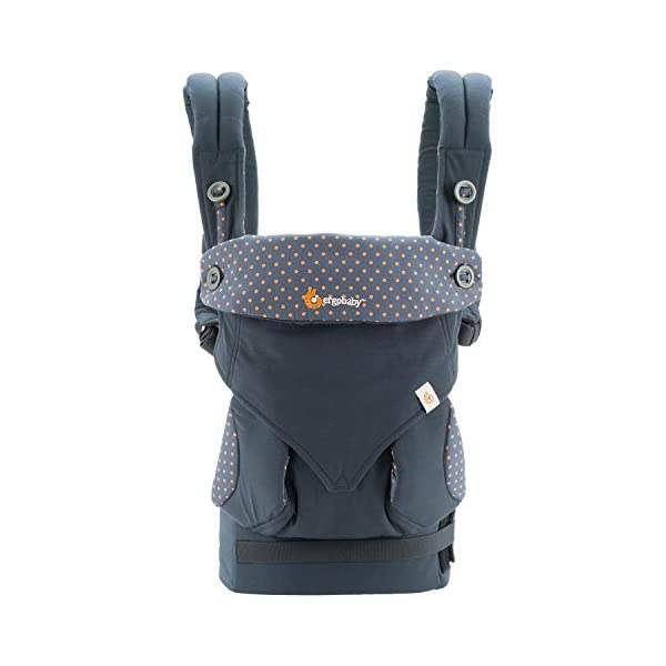 ERGObaby Baby Carrier for Toddler, 360 Dusty Blue 4-Position Ergonomic Child Carrier and Backpack Ergobaby 4 ergonomic wearing positions: front-inward, front-outward, hip and back carry Structured bucket seat keeps baby seated in the anatomically correct frog-leg position Exceptionally comfortable thanks to adjustable, extra-wide waistband to support the lower back;Start with newborn infant insert 0-4 months/7-12lbs, sold separately 3