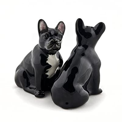 Quail Ceramics - French Bulldog Salt and Pepper - Black and White from Quail Ceramics