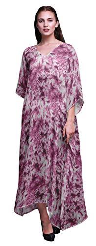 Bimba tie-Farbstoff Damen Plus größe Kaftan Sommerkleidung Strand vertuschung Kimono kaftan-XL-3X