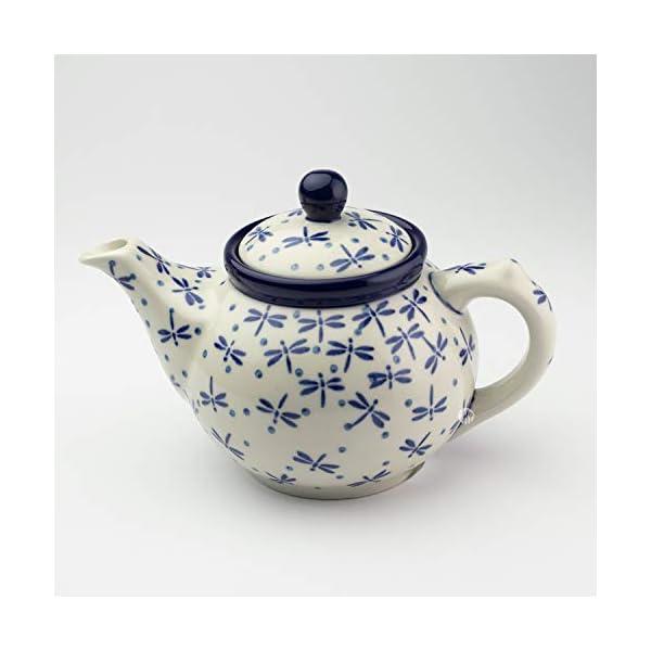 Polish Pottery Small Teapot Dragonfly