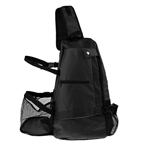Sharplace Yoga-Rucksack Netztasche Yogatasche Yogatragetasche Yogamattentasche Yoga-Bag Reiserucksack Sportrucksack Tagesrucksack für Sport Fitness Pilates - Schwarz