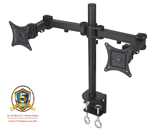 AM12D Dual Twin LCD/Led Monitor Desk Mount Bracket for 15
