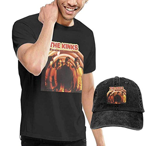 CINDYO Hemden The Kinks Are The Village Green Preservation Society Mens Tee T-Shirts Vintage Jeans Baseball Cap Hat -