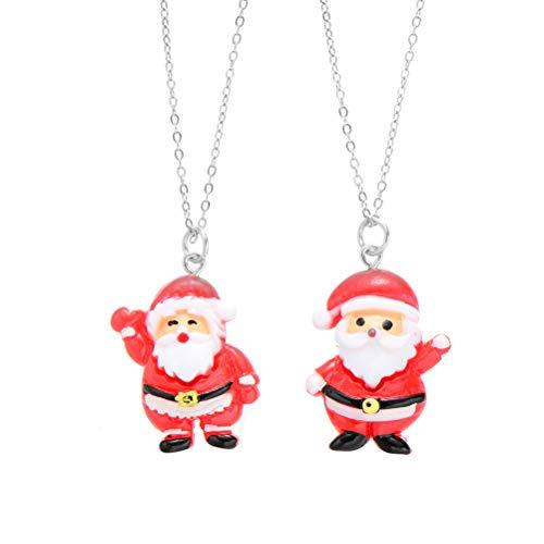dschaftsketten Halskette Weihnachtsmann Halskette Weihnachtsschmuck Geschenk ()