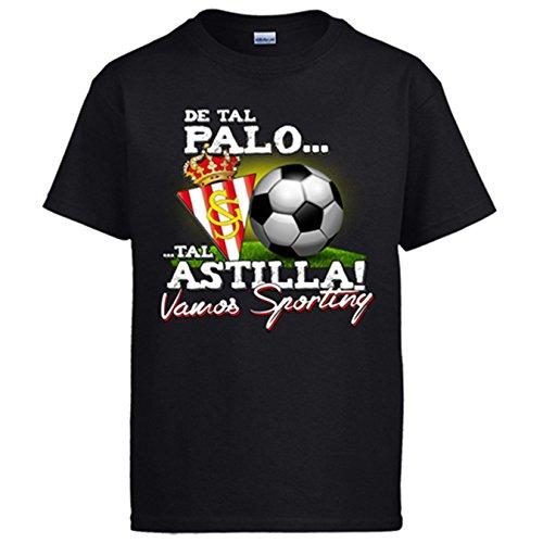 Camiseta de tal palo tal astilla Vamos Sporting de Gijón - Negro, 7-8 años