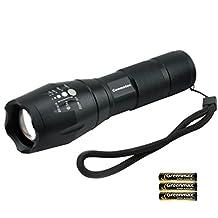 Torcia Led Alta Potenza con Batterie - Tattica Militare Zoomable Impermeabile Flashlight , 5 Modalità di Illuminazione, 900 Lumen (1 PCS)