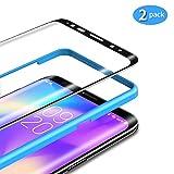 TAMOWA Protector de Pantalla para Samsung Galaxy S8 [2 Piezas], 3D Bordes Redondeados Vidrio Templado Antibalas Pelíula Protectora con Dureza 9H, Anti-Huella Digital, Anti-Burbujas - Negro