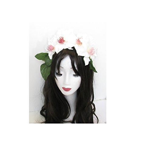 Clématite Grand Blanc Fleur Bandeau Guirlande Festival Couronne Vintage fait main M69 * * * * * * * * exclusivement vendu par - Beauté * * * * * * * *