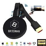 BSKDMAN WiFi Anzeige Dongle Wireless 2.4G 1080P Mini Display Receiver TV HDMI Miracast TV Stick DLNA Airplay für IOS Android Windowsn Mac Schwarz