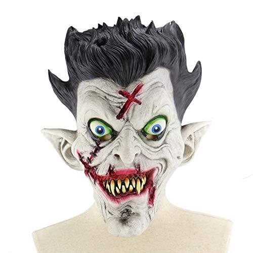 Haare Kostüm Rote Halloween - RYTHN Maske Halloween Scary Clown Kostüme Maske mit roten Haaren Adult Latex Masken Herren Scary Red-Eyed Clown 3/4 Pennywise Maske