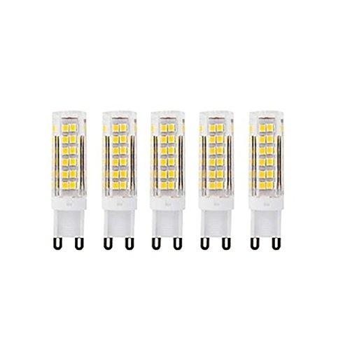 HBR Ampoules LED G9 75Led Petite Lampe en céramique de maïs AC220 Smd2835 7w 400-450Lm (Couleur : Blanc Froid)