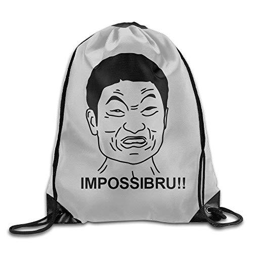 Naiyin Hip Hop Drawstring Backpack Banana Cute Cartoon Girl I'm Thin and Tall Design Print Drawstring Backpack Rucksack Shoulder Bags Gym Bag 17