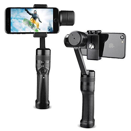 Preisvergleich Produktbild XSTEADY 3-Achsen-Gimbal-Stabilisator mit mehreren Achsen für iPhone X 8 7 Plus 6 Plus Samsung Galaxy S8 + S8 S7 S6 und 3, 5-6 Zoll