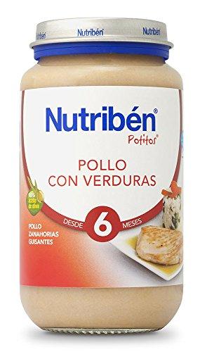 Nutribén Potito - Pollo con Verduras, 250 gramos