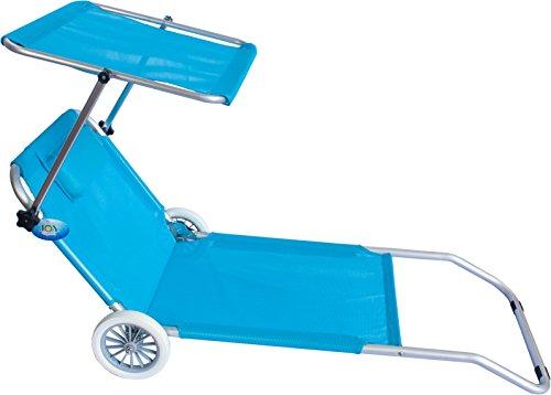 Spiaggina con ruote trolley prendisole spiaggia mare piscina