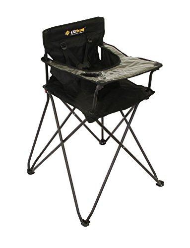 Preisvergleich Produktbild Junior Hochstuhl, mit Seitenfach und Getränkehalter FCC-DJHC-B - Ein sicherer und stabiler Stuhl für Junior-Camper, für Kinder am Campingtisch. Maße: 47 x 38 x 93cm Maximalbelastung: 80 kg