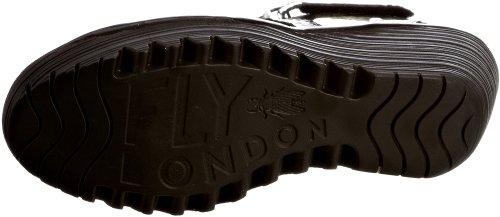 Fly London Yossa, Sandales femme Noir-V.6