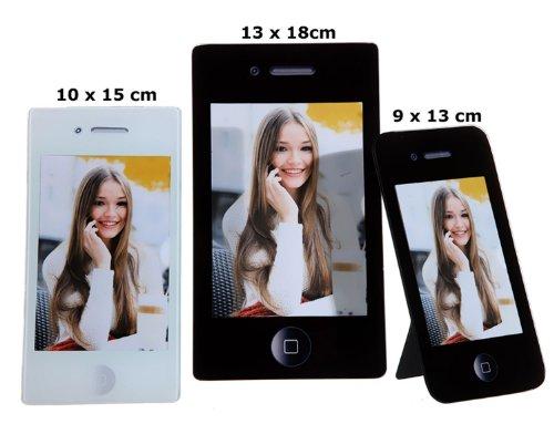 Cepewa 27646 Apple iPhone Bilderrahmen Glasbilderrahmen Fotorahmen Standrahmen für 10 x 15 cm Fotos Iphone Bilderrahmen