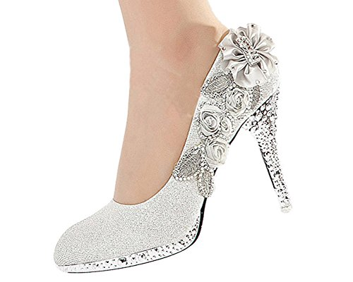 Getmorebeauty-Womens-Lace-Flower-Pearls-Closed-Toes-Prom-Wedding-Shoes