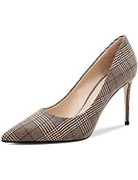 AntiGnor Zapatos de Mujer de Primavera 2019 Nuevo tacón de Aguja en Punta Tacones Altos Zapatos