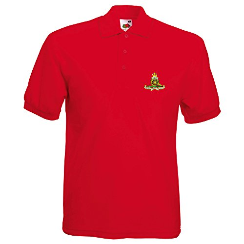 Royal Artillery bestickt Polo Rot