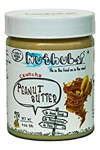Nuthub Crunchy Peanut Butter (All Natural, Unsweetened, Vegan, Gluten Free) 400 gm