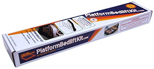 Hatchlift Plattform Bettlift Kits Pblk- Diy unter Bett-Speicher-Kit König König lila/orange - King-plattform-bett-lila