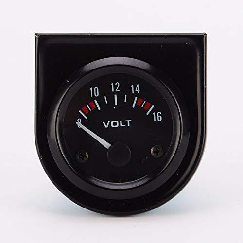 Voltímetro voltímetro voltímetro de coche universal 8-16 V, calibre 52 mm, color negro