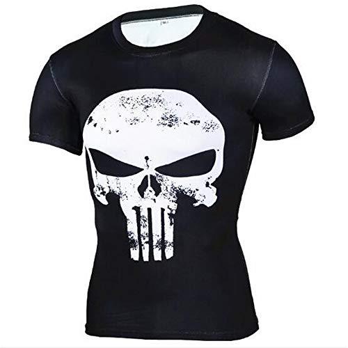 Männer Frühling Sommer Männer T-Shirts 3D Gedruckt Tier t-Shirt Kurzarm Lustige Design Casual Tops Tees Männlich,Stretch Fitness - F Schwarz - A 4XL