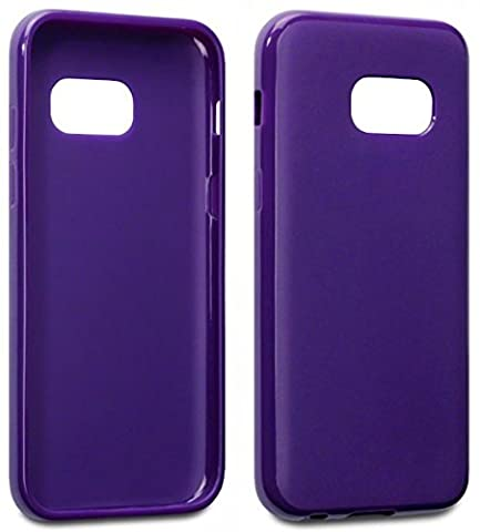 Samsung Galaxy A3 2017 Case - Silicone Gel Cover Solid Matte Purple Design Protective Slim Back Bumper Shockproof Soft TPU Case For Samsung Galaxy A3 2017 Phone The Keep Talking Shop