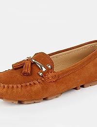ZQ Zapatos de mujer - Tacón Plano - Punta Redonda - Planos - Exterior / Oficina y Trabajo / Casual / Deporte / Fiesta y Noche / Laboral - , white-us8.5 / eu39 / uk6.5 / cn40 , white-us8.5 / eu39 / uk6.5 / cn40