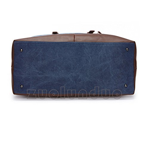 DeLamode Borsa da spiaggia, Grey (Grigio) - DLBag-0003-06 Blue