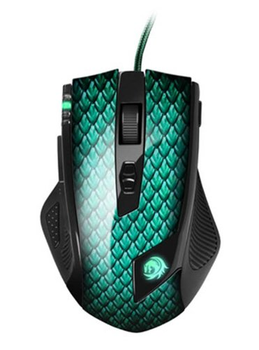 Sharkoon Drakonia Gaming Laser Maus 5000 dpi (11 Tasten) grün bei Amazon