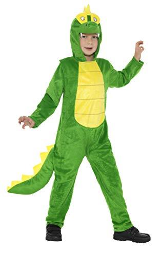 Generique - Lustiges Dinosaurier-Kostüm für Kinder Tiere grün-gelb 116/128 (4-6 Jahre) (Kleine Dinosaurier Kostüm)