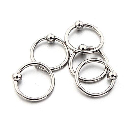 10Stk. 16G Edehlstahl Captive Ring Lippe Ohr Nase Piercing von Vcmart
