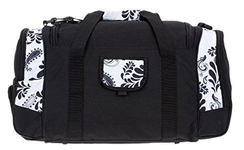 ALESSANDRO / ELEPHANT Sporttasche MATE Fitness Gym Tasche Reisetasche 55 cm / 45 Liter White Paisley 0 (weiss)