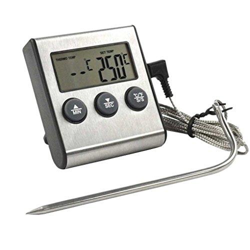 Masterein Digital Display Tragbare Lebensmittel-Fleisch-Thermometer für Küche Kochen Ofen Smoker BBQ Grill Fleisch Temperatur Detect