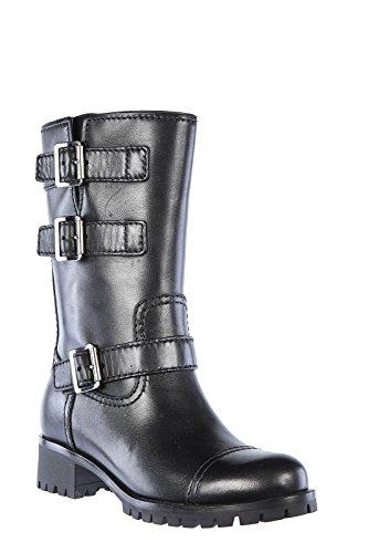 3U5914NERO Prada Chaussure mi montantes Femme Cuir Noir Noir