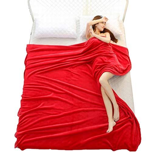 kaimus Couverture Simple et Confortable pour climatiseur de Bureau 100 cm x 140 cm Rouge