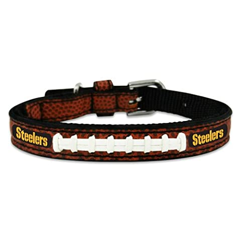 NFL Pittsburgh Steelers Classic Leather Football Collar, Toy