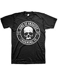 Officiellement Marchandises Sous Licence Sons Of Anarchy Seal 3XL,4XL,5XL Hommes T-Shirt (Noir)