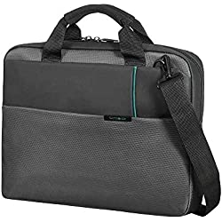 "Samsonite Qibyte Laptop Bag 17.3"" Bolso Bandolera, 14.5 litros, Color Antracita"