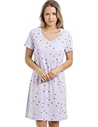 Camille Various Colour and Print Smooth Soft Cotton Summer Nightdresses