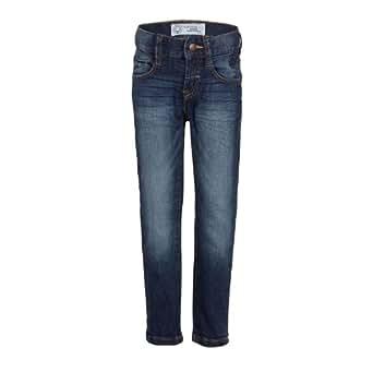 s.Oliver Jungen Jeans 78.402.71.2775, Einfarbig, Gr. 128 (Herstellergröße: SLIM), Blau (blue denim stretch)