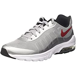 Nike Air Max Invigor, Zapatillas para Hombre, Gris (Wolf Grey / Varsity Red / Black / White), 44.5 EU