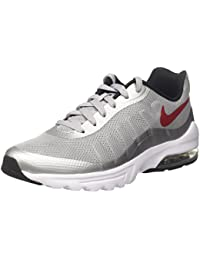 Nike Air Max Invigor, Chaussures de Running Garçon, Gris (Wolf Grey/Bleu Varsity Red-Black-White), 44 EU
