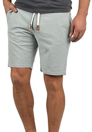 Blend Serge Herren Chino Shorts Bermuda Kurze Hose Mit Rauten-Muster Und Kordel-Gürtel Aus 100% Baumwolle Regular Fit, Größe:M, Farbe:Dusty Blue (74649) -