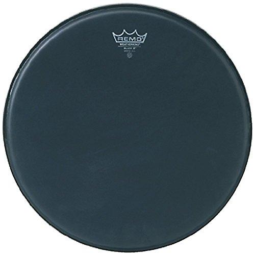 Remo Emperor X schwarz Wildleder ™ Snare Scruggs–unten schwarz dot ™, 33cm (Wildleder Unten)