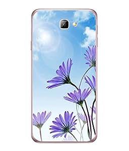 FUSON Designer Back Case Cover for Samsung Galaxy J5 Prime (Daisy Flower Garden Blue Sky White Clouds )